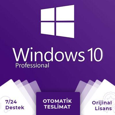 Windows 10 Pro Lisans Anahtarı + Online Hemen Teslim (Hediyeli)