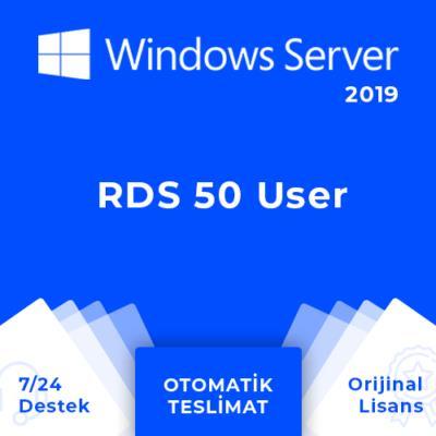 Windows Server 2019 RDS 50 (User) Kullanıcı Dijital Lisans