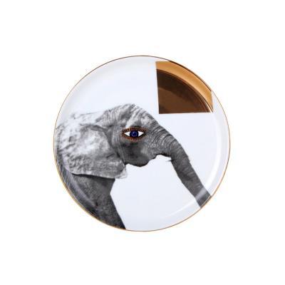 Porland Wild Life Elephant 1 Adet 20 Cm Düz Tabak ALM005138