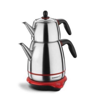 Korkmaz A336-01 Gusto İnox/Siyah Elektrikli Çay Makinesi