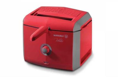 Korkmaz A486-02 Vertex 900 W Fritöz Kırmızı