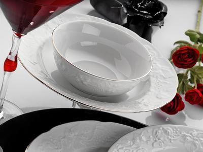 Karaca Filet Platin 24 Parça Yemek Takımı