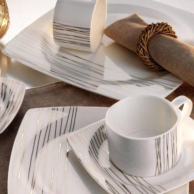 Kütahya Porselen Yemek Takımı - Aliza Bone 83 Parça 25102