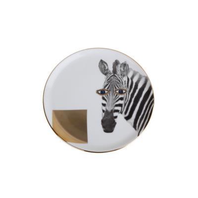 Porland Wild Life Zebra 1 Adet 20 Cm Düz Tabak ALM005134