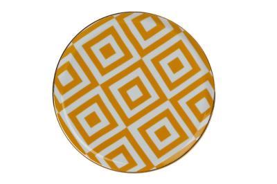 Porland Morocco Sarı 20cm Düz Tabak - 6lı 1 Paket