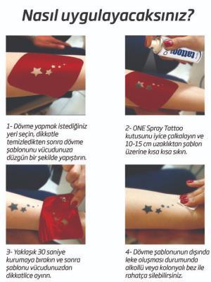 Şanslı Dövmeler Sprey Dövme ve Şablon Seti Tattoo