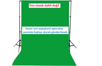 A+ KALİTE-green screen-CHROMAKEY-greenbox-yeşil fon perde(2x3m)