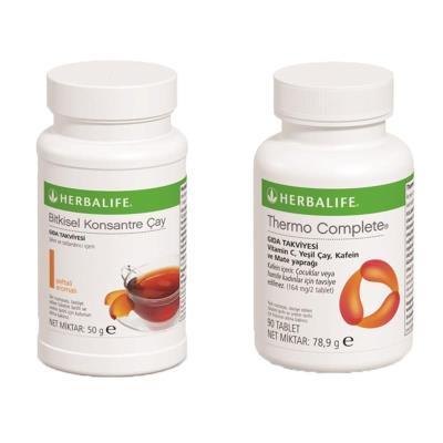 Herbalife Bitkisel Konsantre Çay Şeftali 50gr ve Thermo Complete