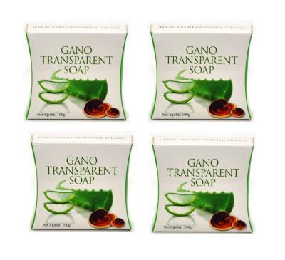 Gano Transparent Ganoderma Mantarlı Şeffaf Sabun 4 x 100 G