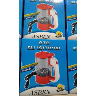 ASBEN 500 ML 12 VOLT OTO SU ISITICISI TERMOSTAT KETTLE