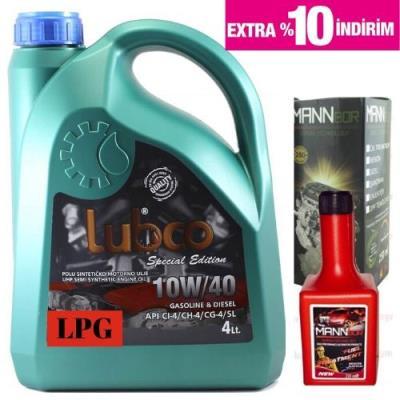 Lubco  lpg 10W-40 4 Litre Semi-Sentetik+benzin yakıt katkısı