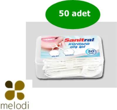 Sanitral Kürdanlı Diş İpi 50 adet