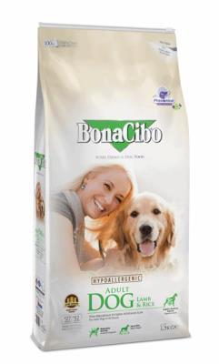 BonaCibo Adult Dog Lamb Rice Kuzu Etli ve Pirinçli Yetişkin 15 k