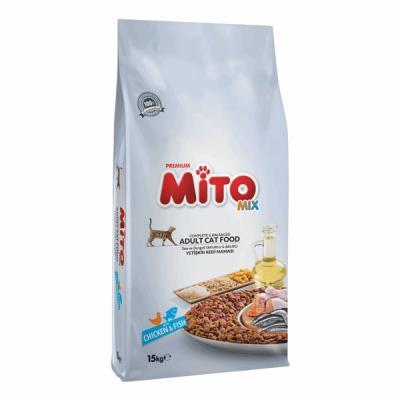 Mito Mix Adult Cat Tavuklu ve Balıklı Renkli Taneli Yetişkin Ked