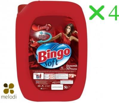 Bingo Soft Yumuşatıcı Lovely 5 Lt*4 adet
