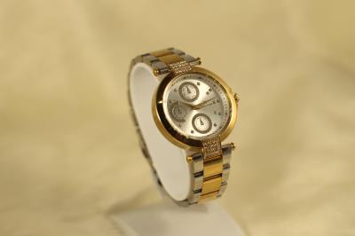 Bayan Altın Sarısı Metal  Kasa Taş İşleme Danıel Kleın Saat